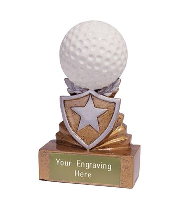 Mini Golf Shield Trophy 9.5cm (3.75)