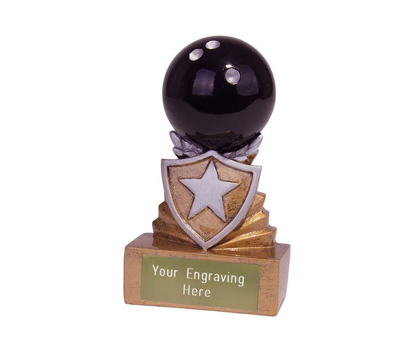 Mini Tenpin Bowling Shield Trophy 9.5cm (3.75)