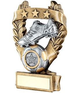 "Star Laurel Wreath Football Trophy 16cm (6.25"")"