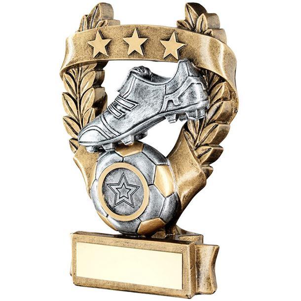 """Star Laurel Wreath Football Trophy 12.5cm (5"""")"""