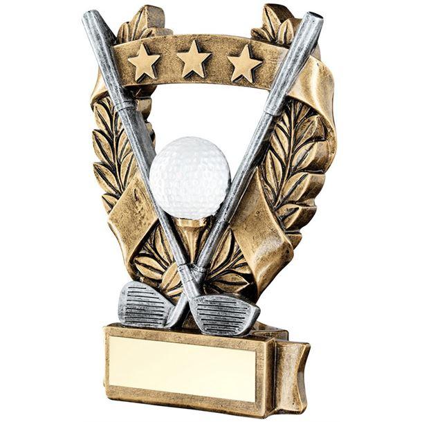 """Star Laurel Wreath Golf Trophy 12.5cm (5"""")"""