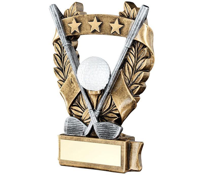 """Star Laurel Wreath Golf Trophy 19cm (7.5"""")"""