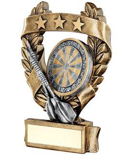"Star Laurel Wreath Darts Trophy 16cm (6.25"")"