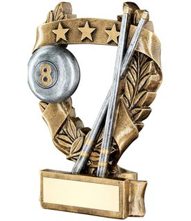 "Star Laurel Wreath Pool Trophy 19cm (7.5"")"