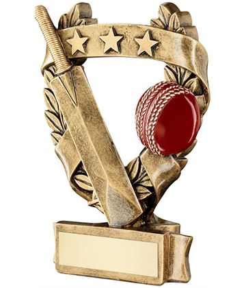 "Star Laurel Wreath Cricket Trophy 12.5cm (5"")"
