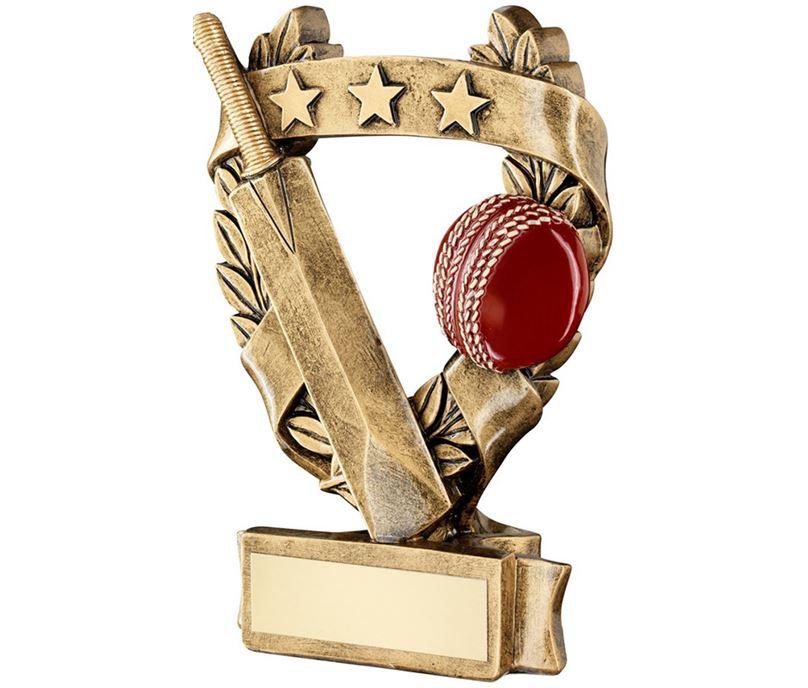 "Star Laurel Wreath Cricket Trophy 12.5cm (5"")"