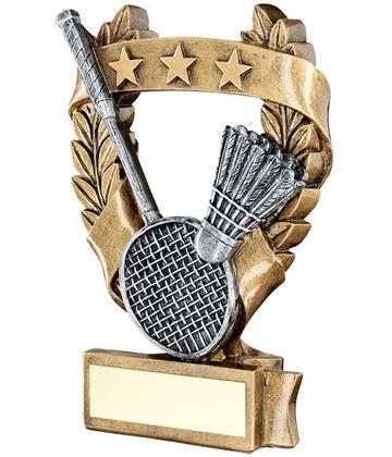 "Star Laurel Wreath Badminton Trophy 12.5cm (5"")"