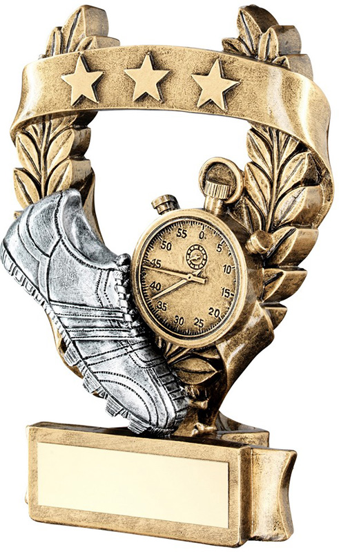"Star Laurel Wreath Athletics Trophy 12.5cm (5"")"