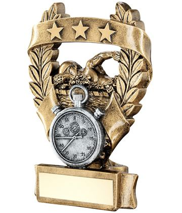 "Star Laurel Wreath Swimming Trophy 12.5cm (5"")"