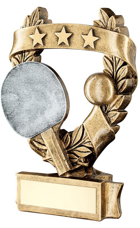 "Star Laurel Wreath Table Tennis Trophy 12.5cm (5"")"