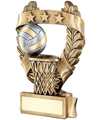 "Star Laurel Wreath Netball Trophy 16cm (6.25"")"
