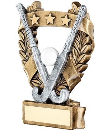 """Star Laurel Wreath Hockey Trophy 12.5cm (5"""")"""