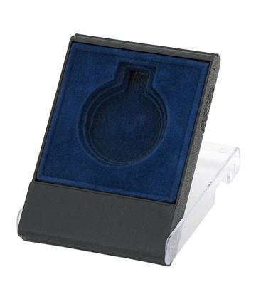 Blue Medal Box with Clear Lid for 40mm, 45mm, or 50mm Medals