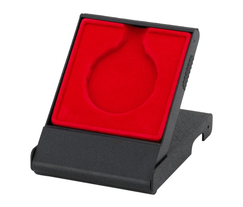Red Medal Box with Solid Lid for 50mm Medals