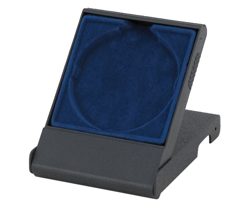 Blue Medal Box with Solid Lid for 70mm Medals