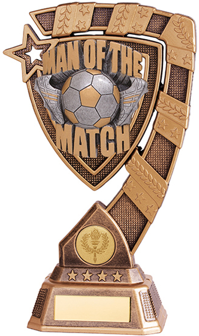 "Euphoria Man Of The Match Football Trophy 13cm (5"")"