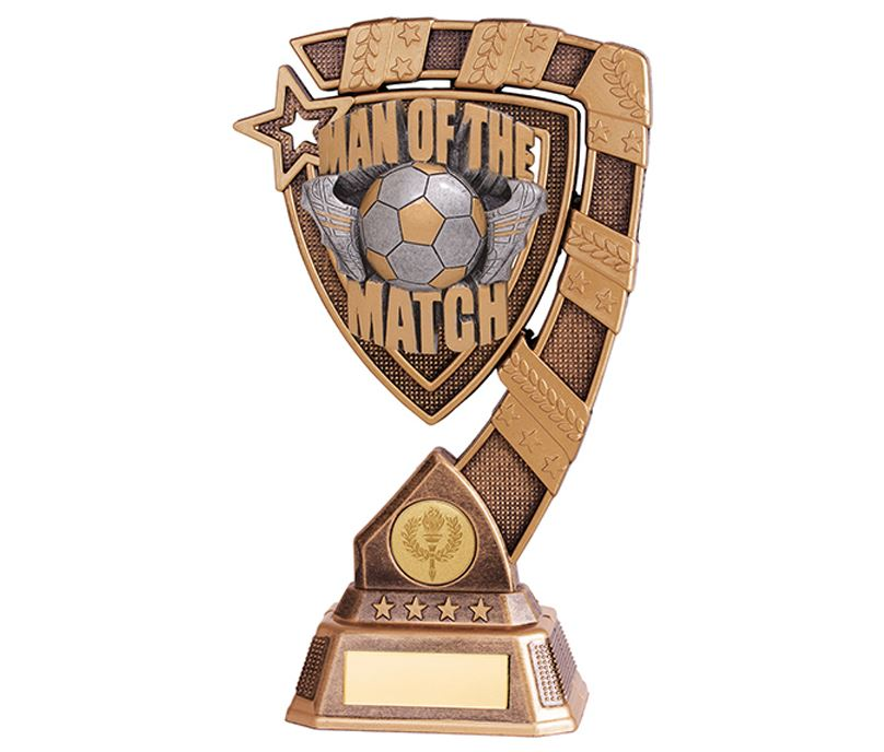 "Euphoria Man Of The Match Football Trophy 13cm (5"")"