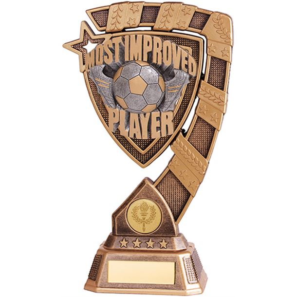 """Euphoria Most Improved Player Football Trophy 13cm (5"""")"""