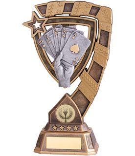 "Euphoria Poker Cards Trophy 21cm (8.25"")"