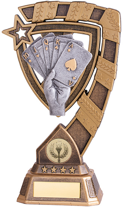 "Euphoria Poker Cards Trophy 13cm (5"")"