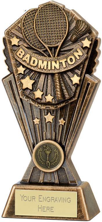 """Cosmos Badminton Trophy 17.5cm (7"""")"""