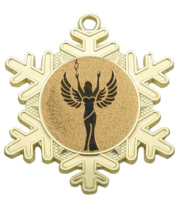 "Multi Award Snowflake Medal Gold 50mm (2"")"