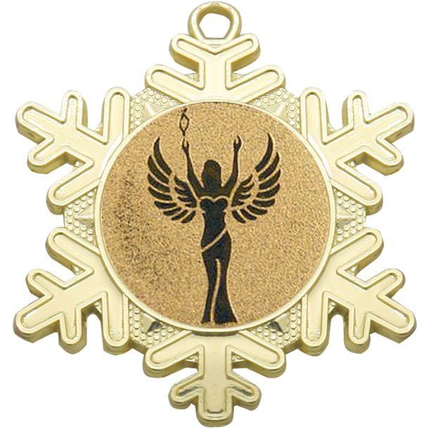 "Multi Award Snowflake Medal Gold 50mm (2"")"