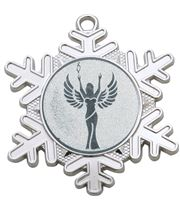 "Multi Award Snowflake Medal Silver 50mm (2"")"