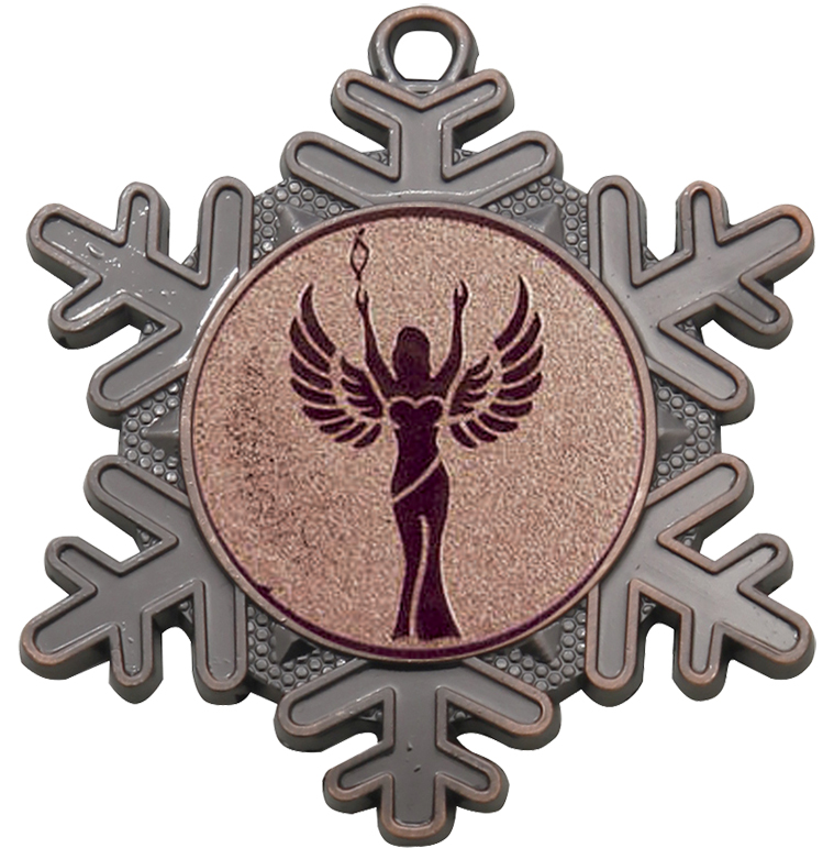 "Multi Award Snowflake Medal Bronze 50mm (2"")"