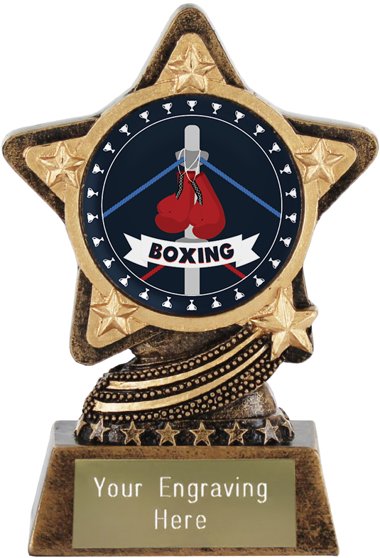 "Boxing Trophy by Infinity Stars 10cm (4"")"