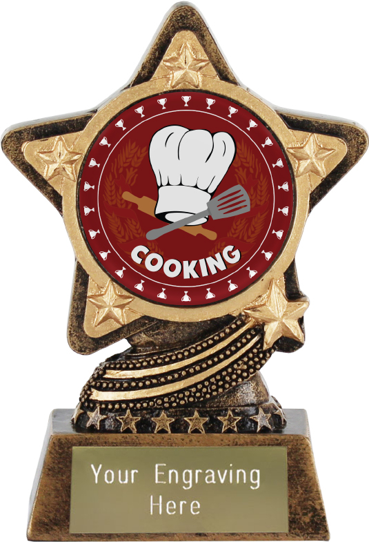 """Cooking Trophy by Infinity Stars 10cm (4"""")"""