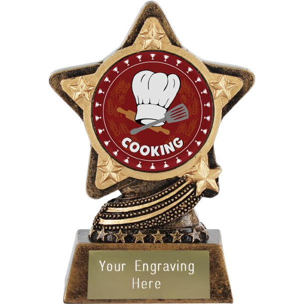 "Cooking Trophy by Infinity Stars 10cm (4"")"