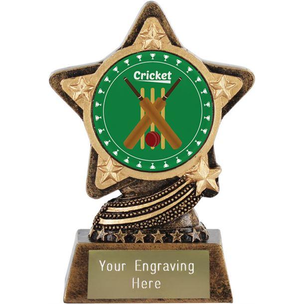 "Cricket Trophy by Infinity Stars 10cm (4"")"