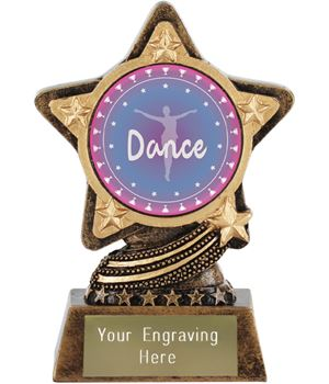 "Dance Trophy by Infinity Stars 10cm (4"")"