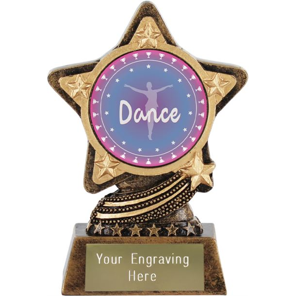 "Dance Trophy by Infinity Stars 10cm (4"")"