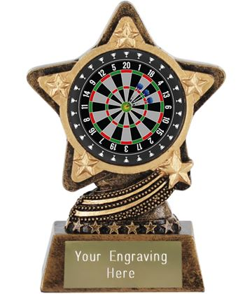 "Darts Trophy by Infinity Stars 10cm (4"")"