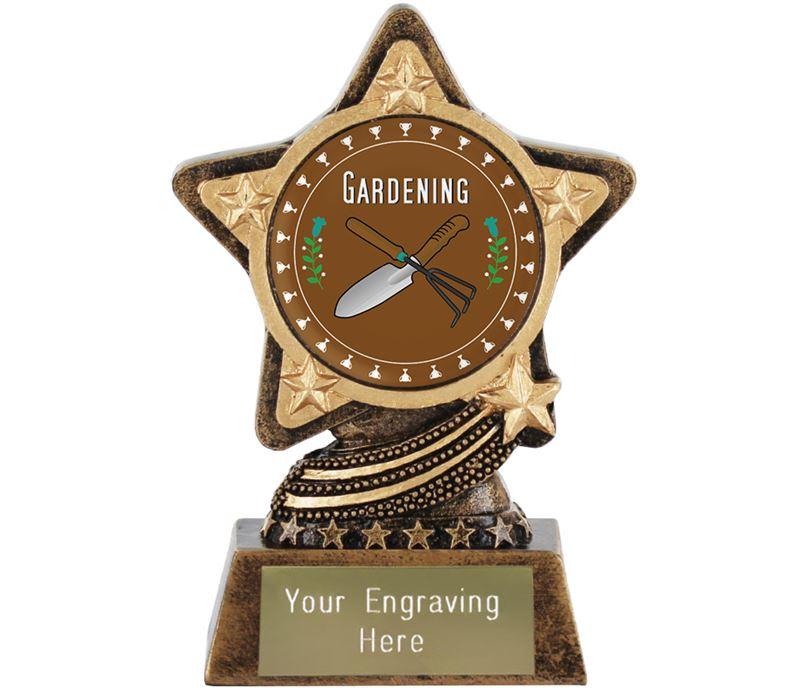 "Gardening Trophy by Infinity Stars 10cm (4"")"