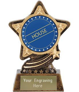"""Blue House Trophy by Infinity Stars 10cm (4"""")"""