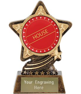 """Red House Trophy by Infinity Stars 10cm (4"""")"""
