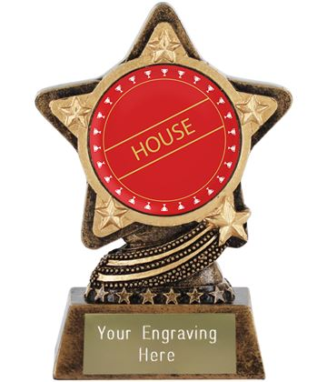 "Red House Trophy by Infinity Stars 10cm (4"")"