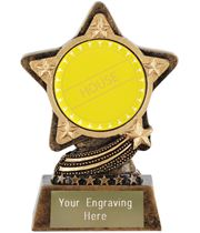 """Yellow House Trophy by Infinity Stars 10cm (4"""")"""