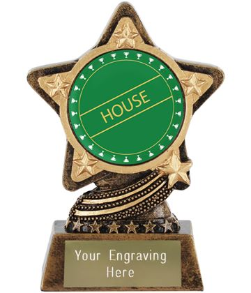 "Green House Trophy by Infinity Stars 10cm (4"")"