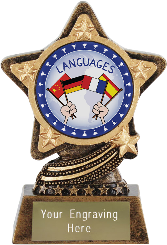 """Languages Trophy by Infinity Stars 10cm (4"""")"""