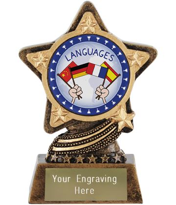 "Languages Trophy by Infinity Stars 10cm (4"")"