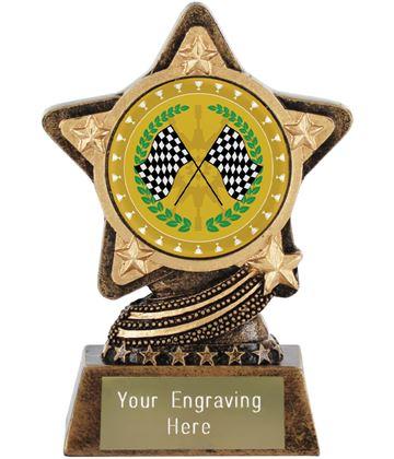 "Motorsport Trophy by Infinity Stars 10cm (4"")"