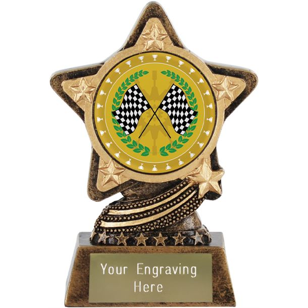 "Motorsport Trophy by Infinity Stars 10cm (4"")"