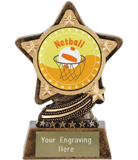 """Netball Trophy by Infinity Stars 10cm (4"""")"""
