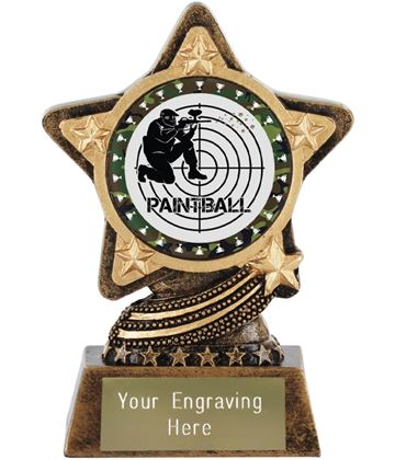 """Paintballing Trophy by Infinity Stars 10cm (4"""")"""