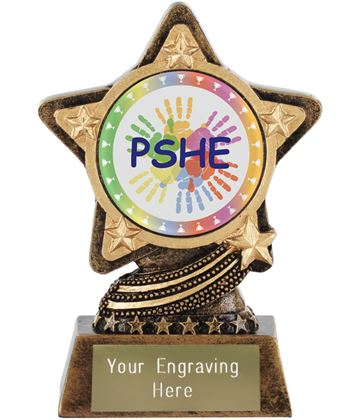 "PSHE Trophy by Infinity Stars 10cm (4"")"