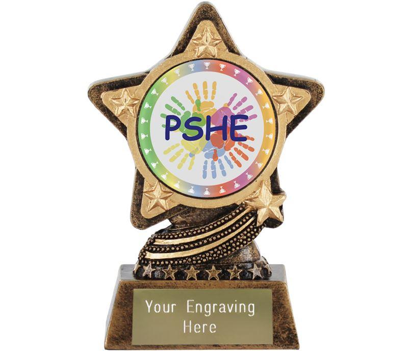 "PSHE Trophy by Infinity Stars 10cm (4"")"